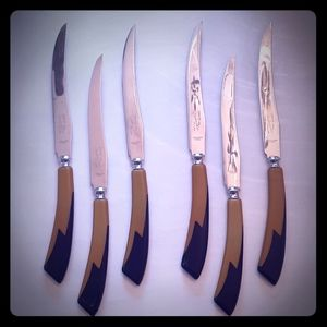 Other - Art déco  GLO-HILL  6 piece set of knives